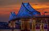 Le pont Jacques-Cartier illuminé (Yves Kéroack) Tags: night bridge fleuvestlaurent stlawrenceriver urbain cityscape tiltshift canon5dmarkiii pont coucherdusoleil montreal sunset urban structures water coloré jacquescartier illumination colorful québec canada montréal ville city nuit