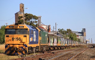 8156 and G520 stabled in Murtoa on Christmas Eve
