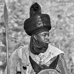 Durbar Portrait (Irene Becker) Tags: arewa durbar kaduna kadunastate murtalamuhammedsquare nigeria northnigeria westafrica celebration centenary northernnigeria timetravel festival parade blackandwhite monochrome