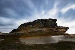 1 minute at Potter Point (David Marriott - Sydney) Tags: kurnell newsouthwales australia au potter point long exposure sandstone