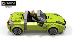 Smart Roadster (2003) (lego911) Tags: smart roadster 2003 2000s turbo triple gmbh daimler daimlerbenz german germany convertible speedster micro auto car moc model miniland lego lego911 ldd render cad povray