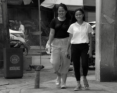 Smiling (Beegee49) Tags: street young girls ladies filipina walking smiling bacolod city philippines