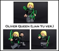 Oliver Queen Lian Yu ver (-Metarix-) Tags: lego minifig dc comics comic green arrow oliver queen tv cw island lian yu custom decal slade wilson archer hood survive 5 years hell