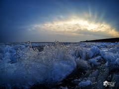 Winter Afsluitdijk! (nsiepelbakker) Tags: winter afsluitdijk ijsselmeer ice omdem1markii natureart clouds sundown oudoor nature samyang75