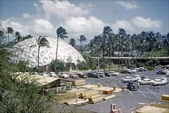 Kaiser Dome Birdseye Waikiki 1960 (Kamaaina56) Tags: 1960s waikiki hawaii aerial kaiserdome hawaiianvillage slide