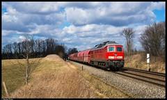 233 521 - Wickershain by Bastian Weber - 233 521 ist mit dem GB 60762 nach Chemnitz-Küchwald unterwegs. Bei Wickershain tat sich erfreulicherweise eine Lücke in den Wolken für den Zug auf.
