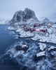 Hamnøy, (Mika Laitinen) Tags: canon5dmarkiv europe hamnøy norway norwegiansea scandinavia architecture cold landscape longexposure mountain nature ocean outdoors redcabin rock sea shore sky snow storm village water wave winter nordland no