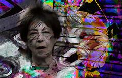 Pintada (seguicollar) Tags: rostro faz cara face alamariposa mujer woman gafas boca nariz virginiaseguí artedigital arte art artecreativo