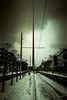 Beast from the East-20 (D.Lord Photography) Tags: luas tram tams lines tracks line dublin ireland oconnell street stree building architecture march march2018 outdoor city scape cityscape photography sky skyine duo tone snow road david lord 2018 leading vignette vignetting canon eos 70d