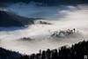 early morning mist (yves_matiegka) Tags: switzerland juramountains jura sunrise mist fog winter morning snow landscape naturparkthal rays trees forest hills