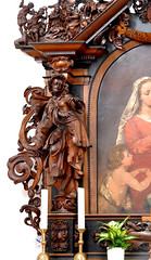 Grauhof, Goslar, Niedersachsen, Klosterkirche, altar of St. Mary, detail (groenling) Tags: grauhof goslar niedersachsen deutschland germany de klosterkirche monastery church stiftskirche altar wood carving woodcarving holz schnitzaltar saint heilige mary maria