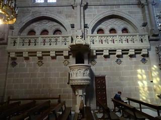 Basilica de San Francisco Javier pulpito y tribunas lombardas Castillo de Javier Navarra 04