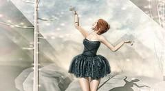 ♚ Look #406 ♚ (Caity Saint) Tags: salt dress backdrop catwa truth redhead sl secondlife pixels