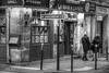 an evening in Paris (albyn.davis) Tags: people street night light blackandwhite paris france europe travel couple walking atmosphere city urban restaurant