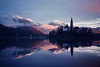 Bled Lake (Sarah Blard) Tags: bled lake reflection slovenia analogue canon winter water argentique dreamy dreamscape