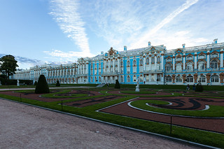 Catherine palace. Blue sky.