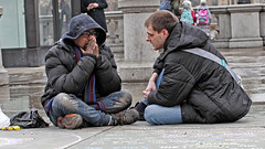 Breaking point (Mick Steff) Tags: homeless london street urban tear crying cry duo two couple people help volunteer