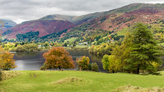 Grasmere and Rydal Fell (Keith in Exeter) Tags: lakedistrict grasmere lake water mountain ridge fell peak pike river gill landscape nationalpark tree wood field grass sky