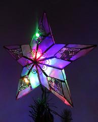 Rainbow star (LeelooDallas) Tags: western australia perth northbridge dana iwachow nikon coolpix s 9200 tree ornament 2017 christmas evening
