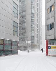 Merihaka #1 (Vesa Pihanurmi) Tags: urban highrise buildings winter snowstorm blizzard character figure street streetphotography merihaka helsinki finland concrete brutalism