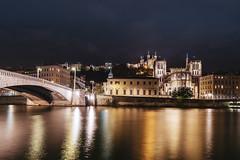 The best side of Lyon (Sizun Eye) Tags: lyon vieilleville oldtown town saône river bridge church reflections night le longexposure poselongue nikond750 nikkor1424mmf28 1424mmf28 rhonealpes