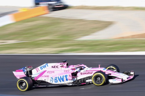 Esteban Ocon during Formula One Winter Testing 2018