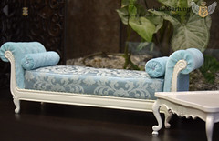 Banquette and tea table 1: 4 (JuliaGart) Tags: furniture for dolls set 14 scale julia gartung sybarite numina kd