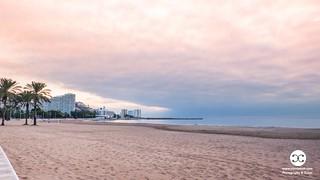 Cloudy Sunrise on the Beach in Valencia Spain 1124