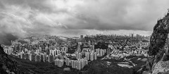 Cityscape from Lion Rock (thecrapone) Tags: cityscape nature hongkong lionrock hill black white city g85 818mm