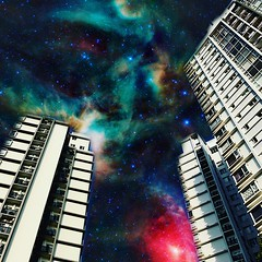 Closer to the Edit (ToGa Wanderings) Tags: suburbs life suburban art craft outcast saigon hcmc hochiminhcity d7 district7 phumy highrise living abode starwars alien juxtaposition surreal vietnam lookingup home universe space outer background edit asia building condo apartment