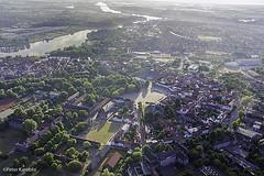 Rendsburg Paradeplatz / Eider River / Kiel Canal, Germany (peterkaroblis) Tags: rendsburg rendsburgparadeplatz schleswigholstein ballonfahrt balloonride geometrie geometry