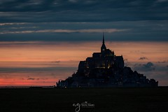 Mont St Michel sunset (Pastel Frames Photography) Tags: france montstmichel castle dusk sunset clouds amazing canon5dmark3 zoom tamron150600mm travel photography digitalphotography