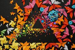 Urban Nation Dark site of the moon (Marco Braun) Tags: black schwarz weiss white blanche noire walart streetart urbanart graffit berlin 2017 urbannation kopf head coloured colourful farbig bunt dreieck triangle pinkfloyd darksiteofthemoon origami prisma deutschlandgermanyallemangne rainbow regenbogen arcenciel tribute dark site moon mond lune homage strahl beam nacht night photoshop musik music bianco isaac newton