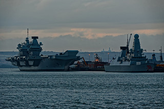 Big Liz & HMS Dragon.