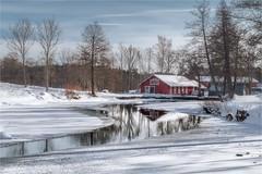 Frozen (Basri Ahmedov) Tags: frozen fagervik suomi finland water lake järvi forest pentax basri ahmedov