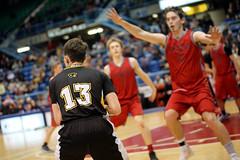 "NBIAA 2018 AAA BOYS SJHS vs FHS 6574 6x4 (DaveyMacG) Tags: saintjohn newbrunswick canada harbourstation nbiaa final12 canon6d sigma70200 interscholastic frederictonhighblackkats ""saint john high school"" greyhounds boysbasketball saintjohnhighschool"