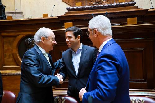 Rui Rio em reunião com o Grupo Parlamentar PSD