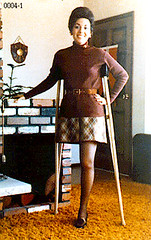0004-01  - 1960s Amputee (jackcast2015) Tags: handicapped disabledwoman crippledwoman crutches amputee sakamputee sakamputation sak