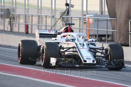 Marcus Ericsson in Formula One Winter Testing 2018