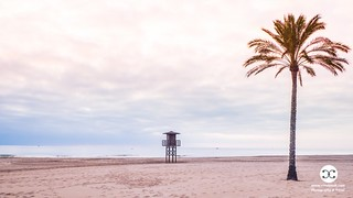 Cloudy Sunrise on the Beach in Valencia Spain 1127