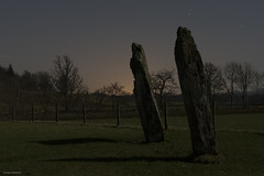 Moonlight shadows (AJ Mitchell) Tags: megalith menhir standingstones argyll scotland britishisles netherlargie kilmartinglen