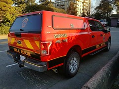West Vancouver, BC Support Unit FS17-4 (6) (walneylad) Tags: westvancouver britishcolumbia canada firedepartment firerescue fireservice firebrigade pompiers bomberos bombeiros firevehicle emergencyvehicle rescuevehicle supportvehicle supportunit pickup truck red ford f150 xlt fs174