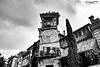 Clock Tower - Tbilisi - Georgia (zulkifaltin) Tags: georgia tbilisi gezi şehir zülkifaltınphotography country street sokak walking tarihi building bina home watch saat heykel kule bw siyahbeyaz blackwhite black
