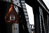 Bridge over troubled water (martinpmayer) Tags: stahl rost brücke behringerbrücke schwarz bridge black ulm sign schild steel dark