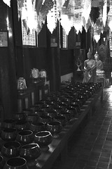 Illuminating (Lauro Meneghel) Tags: thailand asia 2018 bn bw chiangmai monks temple buddhism vase light indoor thai tailandia travel trip southeastasia exploring adventure world culture discover vibes sensations stunning emotions