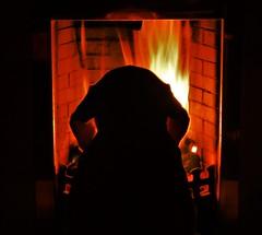Warming her nosy..x (Lisa@Lethen) Tags: sunshine labrador dog pet fire fireplace warmth coal bricks