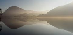 Loweswater sunshine reflections (Alf Branch) Tags: westcumbria water landscape lakes lakedistrict lake lakesdistrict zuiko zuiko1240mmf28pro olympus olympusomdem1 omd alfbranch refelections reflection calmwater loweswater mist sunshine
