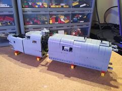 Lego B-24 WIP - 03 (Lt. SPAZ) Tags: lego b24j bungay buckaroo wip consolidated allies bomber b24 nose bombbay wwii world war ii