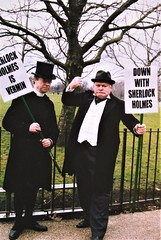 Holy Peters & Charles Augustus Milverton (Peter Horrocks & Jonathan McCafferty) rabble-rousing at Speakers' Corner
