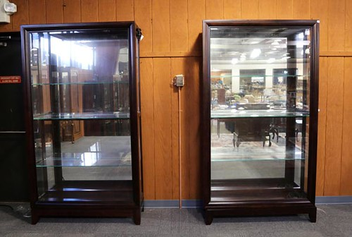 Curio cabinet with sliding doors ($672.00)